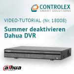 Video-Tutorial #18008: Dahua DVR Summer deaktivieren