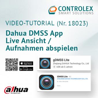 Video-Tutorial #18023: Dahua MDSS App - Live Ansicht / Aufnahmen abspielen